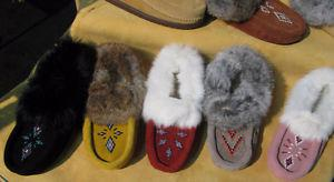 Native Design Moccasins and Slippers Leather