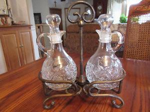 Princess House Fantasia Crystal Oil & Vinegar Set