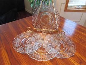 Princess House Fantasia Scalloped Luncheon Plates, Cream &
