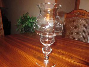 Princess House Heritage Crystal Hurricane Lamps