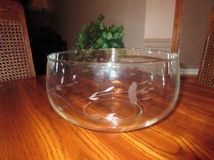 Princess House Heritage Crystal Large Bowl, 6 side Bowls
