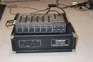 Traynor 300 watt amp and 6 channel mixer,