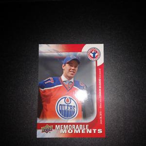 Upper Deck Connor McDavid Hockey Card