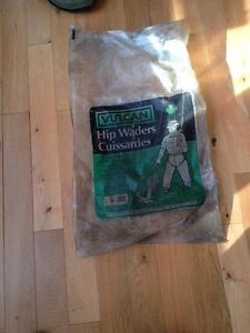Vulcan Hip Waders: brand new, never worn, size 9 hip waders