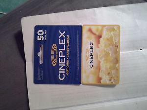 selling a 50 dollar cineplex gift card