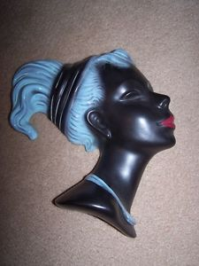 ART DECO WALL HANGING LADY BUST by CORTENDORF,GERMANY.A
