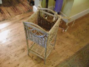 Antique wicker stand