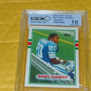 BARRY SANDERS ROOKIE CARD