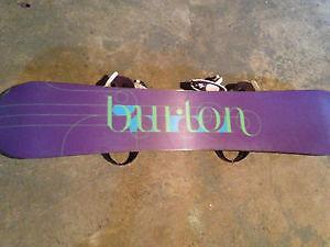 Burton feather snowboard/ boots