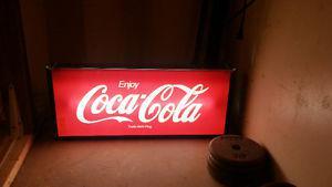 Coca Cola fluorescent light up sign.