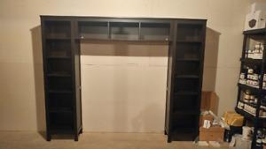 Ikea Hemnes Bookcases and Bridge Shelf