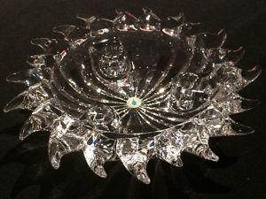Never Used Crystal Candle Holder/Bowl