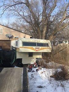 Old camper good for ice shack or restoration