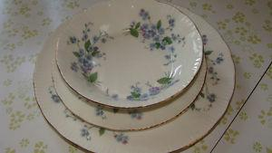 "Paragon-""Forget me not"" Fine Bone China 8 piece setting"