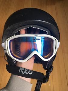 Red Avid snowboard/ski helmet plus goggles