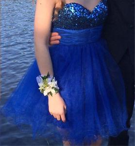 Royal Blue Mid-Length Prom Dress/ Grad Dress