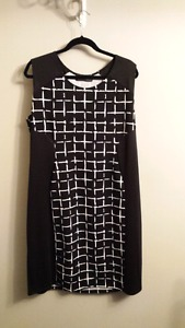 Size 3x black and white dress