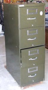 Steel 4 drawer file cabinet