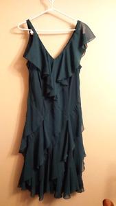 Teal green ruffled dress size 18