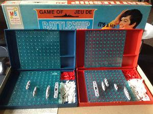 Vintage Battleship Strategy Board Game By Milton