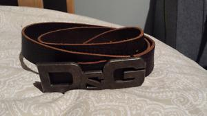 """Authentic D&G """"Antique logo"""" Buckle and Brown Belt"""