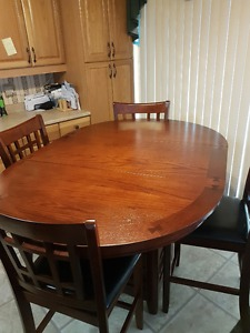 Brand new counter-height table and 4 chairs