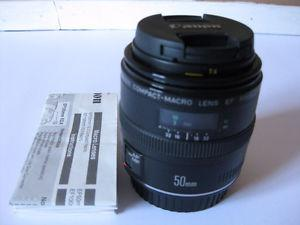 Canon EF 50mm f/2.5 Compact Macro Lens for Canon DSLR