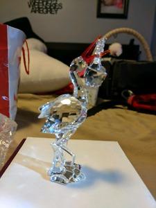 Swarovski crystal stork