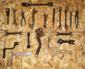 Vintage and Antique wrenches and other interesting tools.