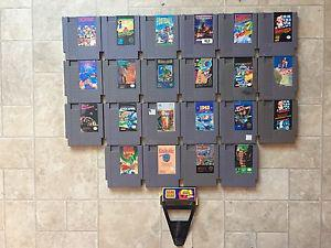 22 nes games for sale with 1 game genie