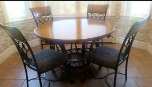 Ashley Furniture Solid Wood Dining Set