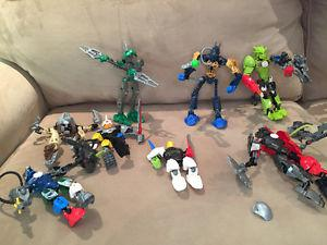 Collection of Bionicals and Hero Factory and Knights.