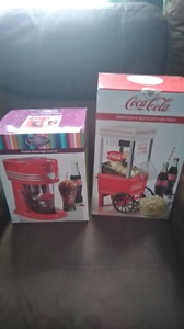 Frozen drink station and coca cola popcorn popper