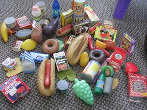 Lot of toy food