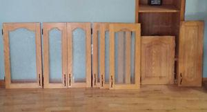 SOLID OAK CUPBOARD DOORS