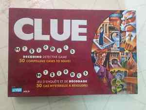 Vintage  complete Parker Brothers Clue Mysteries board
