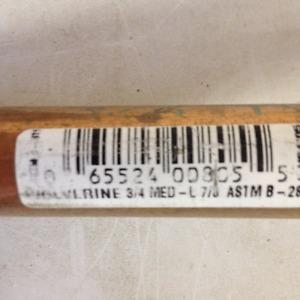 12 ft. 3/4 Med-L copper pipe. Have 2 - 12 Ft. lenths of pipe