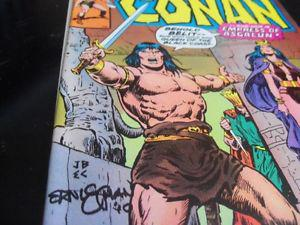 3 Conan the Barbarian Marvel Comics signed by Ernie Chan $10