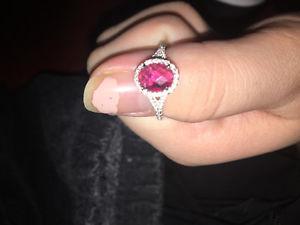 Birthstone 925 sterling silver ring