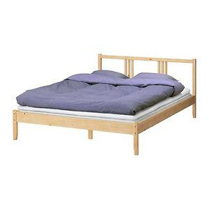 DELIVERY- IKEA DOUBLE SOLID WOOD BED FRAME