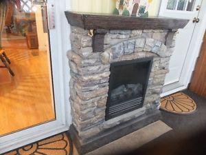 Electric Rock featured fire place.