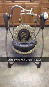 Graco Baby Swing - EUC