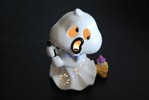 Halloween Decoration. China ghost on broomstick Tea light