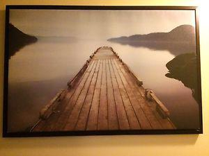 Large photo on canvas