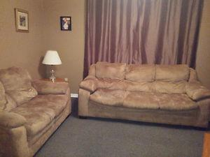 Microfibre Couch and Love Seat- $200 for both