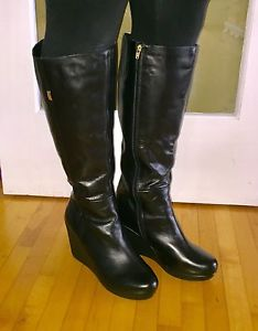NEW Black Wide Calf Boots