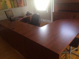 Office furniture, desk, book shelf and storage unit