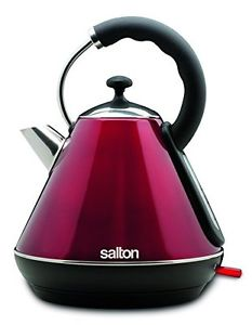 Salton JK Cordless Electric Kettle, 1.8 L, Metallic Red
