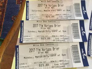 Tim Hortons Brier Tickets (9)