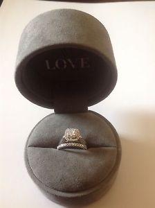 Vera Wang LOVE Collection Engagement Ring & Band